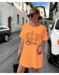 Φόρεμα - κώδ. 2525 - πορτοκαλί