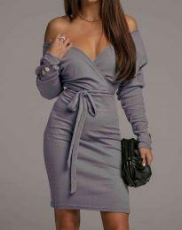 Φόρεμα - κώδ. 4765 - γκρι