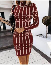 Φόρεμα - κώδ. 0258 - μπορντό