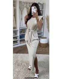 Φόρεμα - κώδ. 7049 - μπεζ
