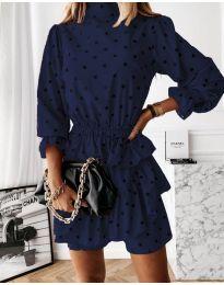 Φόρεμα - κώδ. 3665 - σκούρο μπλε