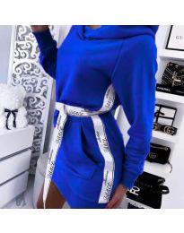 Φόρεμα - κώδ. 4483 - σκούρο μπλε
