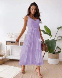 Φόρεμα - κώδ. 4672 - ανοιχτό μωβ
