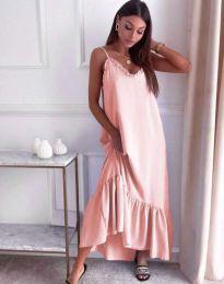 Φόρεμα - κώδ. 4671 - ανοιχτό ροζ