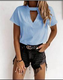 Κοντομάνικο μπλουζάκι - κώδ. 3597 - γαλάζιο