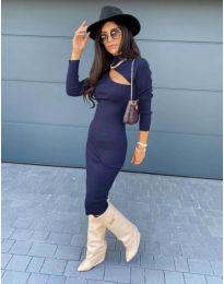 Φόρεμα - κώδ. 5469 - 1 - Σκούρο μπλε