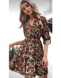 Φόρεμα - κώδ. 979 - 3 - πολύχρωμο