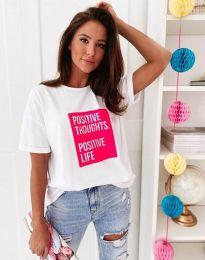 Κοντομάνικο μπλουζάκι - κώδ. 3163 - λευκό