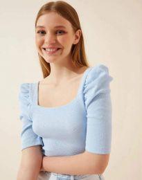 Κοντομάνικο μπλουζάκι - κώδ. 1300 - γαλάζιο