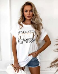 Κοντομάνικο μπλουζάκι - κώδ. 4578 - λευκό
