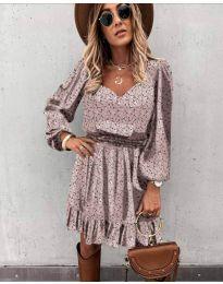 Φόρεμα - κώδ. 0366 - πούδρα