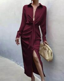 Φόρεμα - κώδ. 6459 - μπορντό