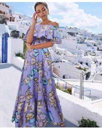 Φόρεμα - κώδ. 8582 - μωβ