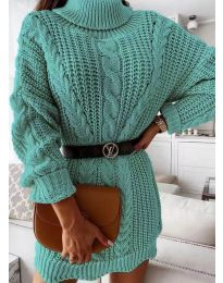 Φόρεμα - κώδ. 6071 - τυρκουάζ