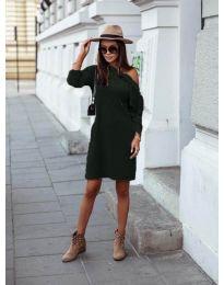 Φόρεμα - κώδ. 8171 - σκούρο πράσινο