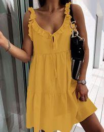 Φόρεμα - κώδ. 2540 - μουσταρδί