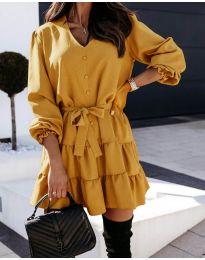 Φόρεμα - κώδ. 8272 - μουσταρδί