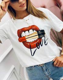 Κοντομάνικο μπλουζάκι - κώδ. 4340 - λευκό