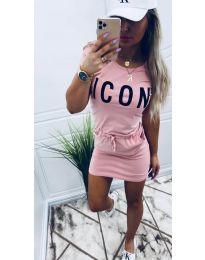 Φόρεμα - κώδ. 9905 - ροζ