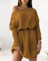 Φόρεμα - κώδ. 6940 - καφέ