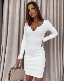 Φόρεμα - κώδ. 11664 - λευκό