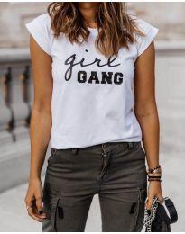 Κοντομάνικο μπλουζάκι - κώδ. 918 - 6 - λευκό