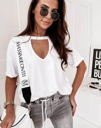 Κοντομάνικο μπλουζάκι - κώδ. 11666 - λευκό