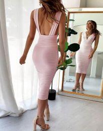 Φόρεμα - κώδ. 1389 - 1 - ροζ