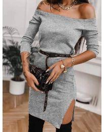 Φόρεμα - κώδ. 4720 - γκρι