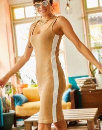 Φόρεμα - κώδ. 1253 - καπουτσίνο