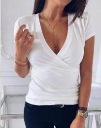 Κοντομάνικο μπλουζάκι - κώδ. 3410 - λευκό