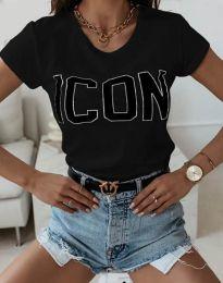 Κοντομάνικο μπλουζάκι - κώδ. 11793 - μαύρο