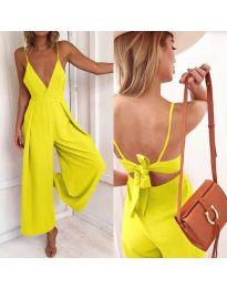 Κομψή ολόσωμη φόρμα σε - κίτρινο κωδ.720