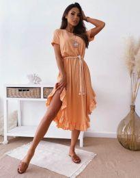 Φόρεμα - κώδ. 11893 - ροδακινί