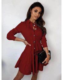 Φόρεμα - κώδ. 3852 - μπορντό