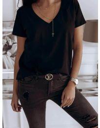 Κοντομάνικο μπλουζάκι - κώδ. 3638 - μαύρο