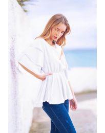 Κοντομάνικο μπλουζάκι - κώδ. 504 - λευκό