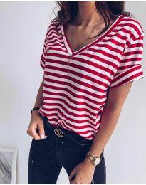Κοντομάνικο μπλουζάκι - κώδ. 3141 - κόκκινο