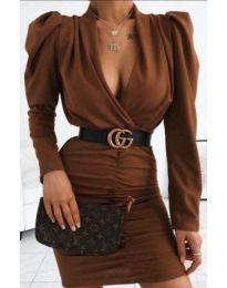 Φόρεμα - κώδ. 953 - καφέ