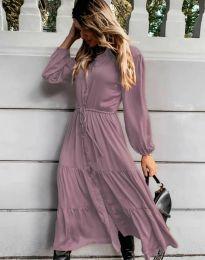 Φόρεμα - κώδ. 6522 - μωβ