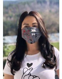 Μάσκα - κώδ. 018 - γκρι