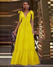 Φόρεμα - κώδ. 2743 - κίτρινο