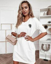Φόρεμα - κώδ. 7089 - 2 - λευκό