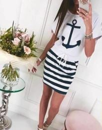 Φόρεμα - κώδ. 7369 - λευκό