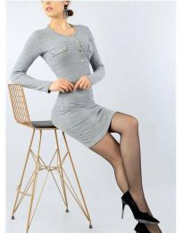 Φόρεμα - κώδ. 2064 - 2 - γκρι