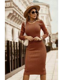 Φόρεμα - κώδ. 8485 - καφέ