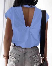 Κοντομάνικο μπλουζάκι - κώδ. 4515 - μπλε
