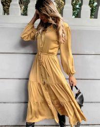 Φόρεμα - κώδ. 6522 - κίτρινο