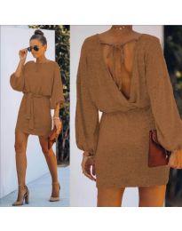 Φόρεμα - κώδ. 940 - καφέ