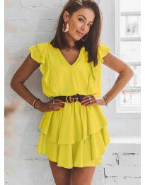 Φόρεμα - κώδ. 7173 - κίτρινο